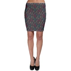 Whimsical Feather Pattern, Autumn Colors, Bodycon Skirt by Zandiepants