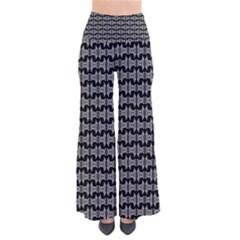 Black White Tiki Pattern Pants by BrightVibesDesign