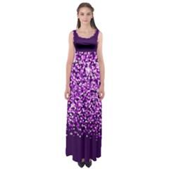 Purple Rain Empire Waist Maxi Dress by KirstenStar