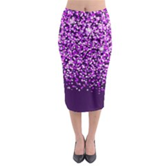 Purple Rain Midi Pencil Skirt by KirstenStar