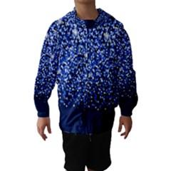 Blue Glitter Rain Hooded Wind Breaker (Kids) by KirstenStar