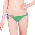 Green Blue Pink Color Splash Bikini Bottom