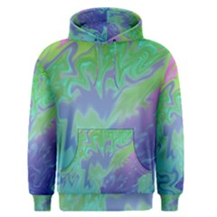 Green Blue Pink Color Splash Men s Pullover Hoodie by BrightVibesDesign