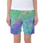 Green Blue Pink Color Splash Women s Basketball Shorts