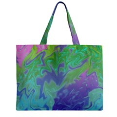 Green Blue Pink Color Splash Zipper Mini Tote Bag by BrightVibesDesign