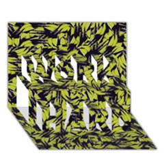 Modern Abstract Interlace Work Hard 3d Greeting Card (7x5)  by dflcprints