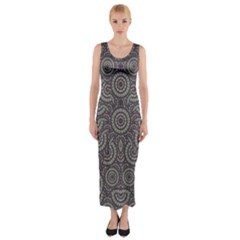 Geometric Boho Print Fitted Maxi Dress by dflcprintsclothing