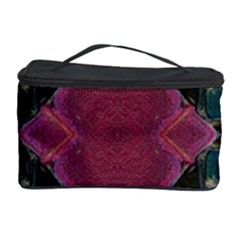 Pink Turquoise Stone Abstract Cosmetic Storage Cases by BrightVibesDesign