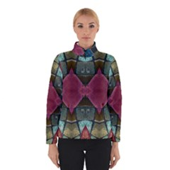 Pink Turquoise Stone Abstract Winterwear by BrightVibesDesign
