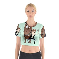 Space Adventure! Mans Best Friend Cotton Crop Top by lvbart
