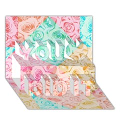 A Rose Is A Rose You Did It 3d Greeting Card (7x5) by hennigdesign