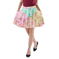 A Rose Is A Rose A Line Pocket Skirt by hennigdesign