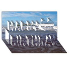 Ocean Surf Beach Waves Happy Birthday 3d Greeting Card (8x4)  by CrypticFragmentsColors