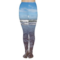 Ocean Surf Beach Waves Women s Tights by CrypticFragmentsColors