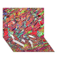 Expressive Abstract Grunge Love Bottom 3d Greeting Card (7x5)  by dflcprints