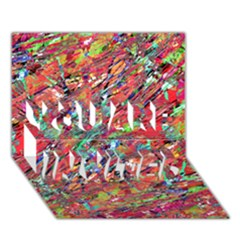 Expressive Abstract Grunge You Are Invited 3d Greeting Card (7x5)  by dflcprints