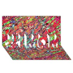 Expressive Abstract Grunge #1 Mom 3d Greeting Cards (8x4)  by dflcprints