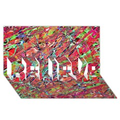 Expressive Abstract Grunge Believe 3d Greeting Card (8x4)  by dflcprints