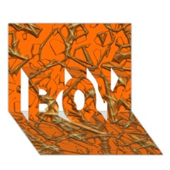 Thorny Abstract, Orange Boy 3d Greeting Card (7x5) by MoreColorsinLife