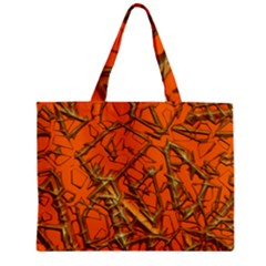 Thorny Abstract, Orange Zipper Mini Tote Bag by MoreColorsinLife