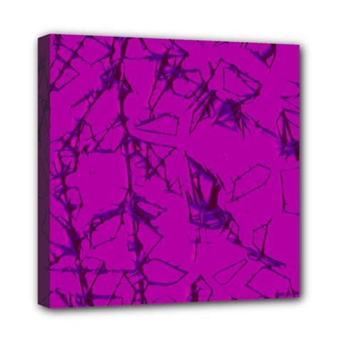 Thorny Abstract,hot Pink Mini Canvas 8  X 8  by MoreColorsinLife