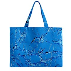 Thorny Abstract,ice Blue Zipper Mini Tote Bag by MoreColorsinLife