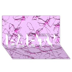 Thorny Abstract,soft Pink PARTY 3D Greeting Card (8x4)  by MoreColorsinLife