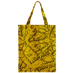 Thorny Abstract,golden Zipper Classic Tote Bag by MoreColorsinLife