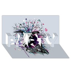 From Nature We Must Stray PARTY 3D Greeting Card (8x4)  by lvbart