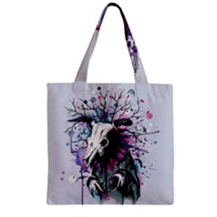 From Nature We Must Stray Zipper Grocery Tote Bag by lvbart