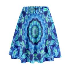 Blue Sea Jewel Mandala High Waist Skirt by Zandiepants
