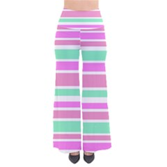 Pink Green Stripes Pants by BrightVibesDesign
