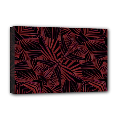 Sharp Tribal Pattern Deluxe Canvas 18  x 12   by dflcprints