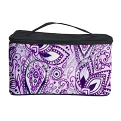 Purple Paisley Doodle Cosmetic Storage Cases by KirstenStar