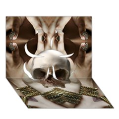 Skull Magic Clover 3d Greeting Card (7x5)  by icarusismartdesigns
