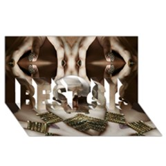 Skull Magic Best Sis 3d Greeting Card (8x4)  by icarusismartdesigns