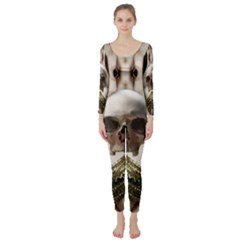Skull Magic Long Sleeve Catsuit by icarusismartdesigns