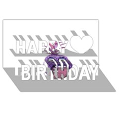 Funny Fruit Face Head Character Happy Birthday 3d Greeting Card (8x4)  by dflcprints