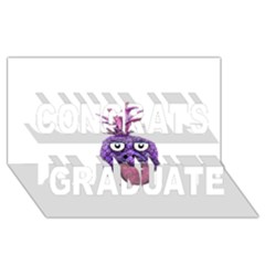 Funny Fruit Face Head Character Congrats Graduate 3d Greeting Card (8x4)  by dflcprints