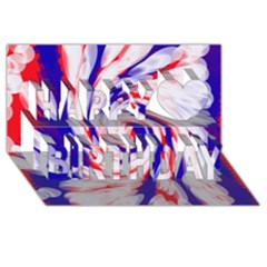 Groovy Red White Blue Swirl Happy Birthday 3d Greeting Card (8x4)  by BrightVibesDesign