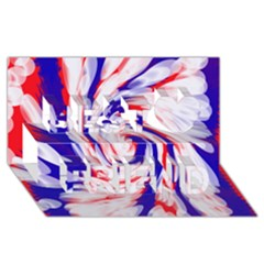 Groovy Red White Blue Swirl Best Friends 3d Greeting Card (8x4)  by BrightVibesDesign