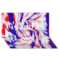 Groovy Red White Blue Swirl Congrats Graduate 3d Greeting Card (8x4)  by BrightVibesDesign