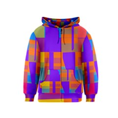 Misc Colorful Shapes                                           Kids Zipper Hoodie by LalyLauraFLM