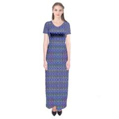 Cross Over Short Sleeve Maxi Dress by MRTACPANS