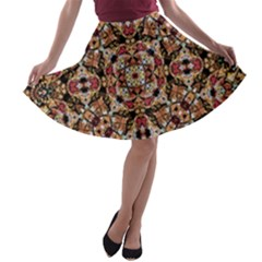 Boho Chic A-line Skater Skirt by dflcprintsclothing