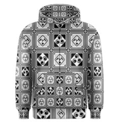 Black And White Men s Zipper Hoodie by FunkyPatterns