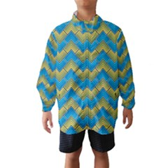 Blue And Yellow Wind Breaker (Kids) by FunkyPatterns