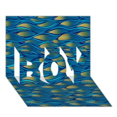 Blue Waves Boy 3d Greeting Card (7x5) by FunkyPatterns