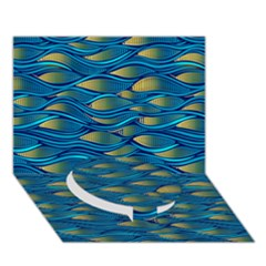Blue Waves Circle Bottom 3d Greeting Card (7x5)  by FunkyPatterns