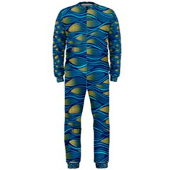 Blue Waves Onepiece Jumpsuit (men)  by FunkyPatterns